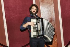 """To prepare for his role in """"Natasha, Pierre & the Great Comet of 1812,"""" he tackled the accordion — and, reluctantly, learned to dance."""