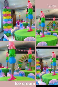 Candyland ballons centerpiece