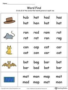 Picture Word Find: OG Words in Color