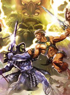 He-Man and the Masters of the Universe · Dave Wilkins · Comic Art Community Gi Joe, He Man Tattoo, Anime Comics, Dc Comics, Master Of The Universe, Universe Art, She Ra Princess Of Power, 90s Cartoons, Marvel