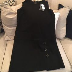 New with tags! Black drop waist dress. New with tags! Black drop waist sleeveless dress with button accents. Perfect for work! LOFT Dresses
