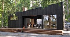 Cottages and Cabins Sauna Design, Cabin Design, Cottage Design, House Design, Sauna House, Scandinavian Architecture, Summer Cabins, Box Houses, Small Houses