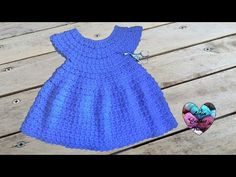 Crochet : Robe toutes tailles facile 2/2 / Dress crochet easy all sizes - YouTube