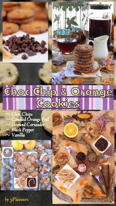The tastes and smells of Fall combined. Chocolate, candied orange peel, coriander and black pepper in harmony. Orange Cookies, Candied Orange Peel, Chips, Ground Coriander, Spice Cookies, Chocolate Cookies, Tart, Vanilla, Spices