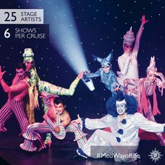Take your seats and enjoy MSC's spectacular live evening shows.
