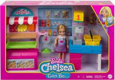 Barbie Chelsea Doll, Barbie Doll Set, Barbie Food, Mattel Barbie, Barbie Playsets, Little Girl Toys, Cute Themes, Toy Kitchen, Lol Dolls