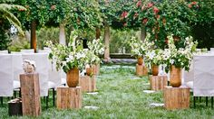natural wedding aisle runner | aisle runners. Love the look of the natural wood. | Wedding Pictures