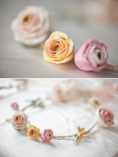 Delicate floral headpieces for brides and flowergirls by Lila. Photography by http://www.katylunsford.com/