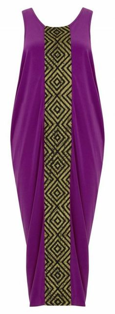 Pour le mix des deux couleurs.   Fuchsia Dress ~African Prints, African women dresses, African fashion styles, African clothing, Nigerian style, Ghanaian fashion ~DK