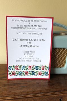Floral Garland Wedding Invitation on Etsy, $2.50