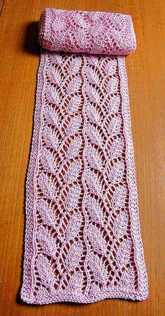 Ravelry: Yarn Closet's Leaf Scarf pattern by Lankakomero