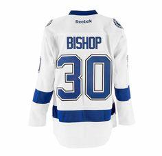 Reebok Ben Bishop Tampa Bay Lightning Road Premier Replica Hockey Jersey  #NHL #MyTBSports #TBLightning #GoBolts #TampaBayLightning #Hockey #BeTheThunder #Sports #Apparel #Jersey #Bishop