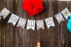 Socorro! Sou mãe...: Os 3 anos do (cow)boy: Party Printables Cowboy by Kids&Babies Design (bandeirolas de parede) - Foto: Crush