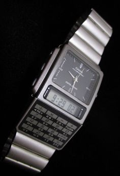 Rare analog-digital Casio Databank. Retro Watches, Vintage Watches, Cool Watches, Watches For Men, Men's Watches, Casio Databank, Casio Watch, Casio Vintage Watch, New Technology Gadgets