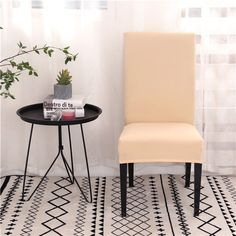 Solid Color Chair Covers Spandex Dining Room Stretch Seat Cover Chair Protective Case for Restaurant Banquet Dining Room Seat Covers, Banquet Chair Covers, Seat Covers For Chairs, Dining Room Chairs, Couch Covers, Stuhlhussen Stretch, Spandex Chair Covers, Corner House, Stylish Chairs