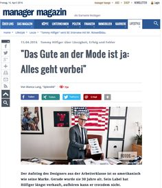 Tommy Hilfiger @ MANAGER-MAGAZIN.DE, April 2016