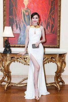 NOBLE MAIDEN SLIT MAXI DRESS in WHITE (Pre-Order)