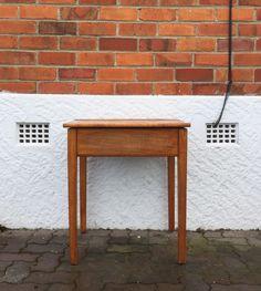 Vintage wooden school desk. #placesandgraces #collection #school #desk #wooden $75 Bedroom Inspiration, Interior Styling, Kids Bedroom, Entryway Tables, Desk, Vintage, School, Furniture, Collection