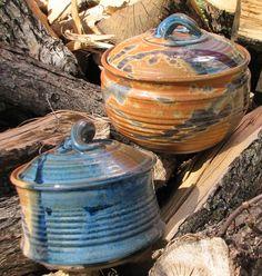 Handmade Casserole Stoneware Baking Dish by claycoyote on Etsy