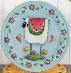 Sheep plate---so cute!