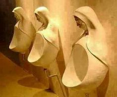 #ISRAELI #TALMUDIC #JEWS HAVE MADE #URINALS #RESEMBLING THE PIC OF #VIRGIN #MARY TO INSULT #CHRISTIANITY .