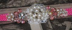 Pink RHINESTONE BLING collar Pet Collar custom by Grotto333