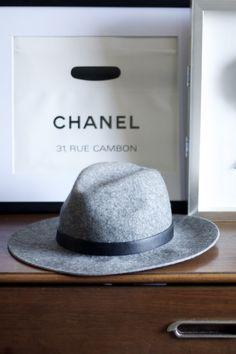 Wool wide brimmed hat