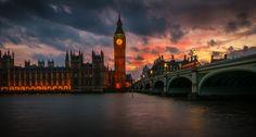 Fire over Big Ben by Michał Łotocki on 500px