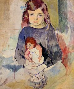 Jules Pascin - Young Girl with a Doll