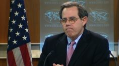 At a State Department briefing, Stuart Jones was asked about Saudi Arabia's commitment to democracy. He responded after nearly 20 seconds of silence.