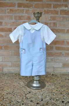 Ring Bearer Outfit, Easter Outfit, Jumpsuit or Romper by www.CouturesbyLaura.etsy.com, $150.00