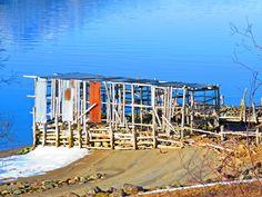 Fish drying rack at Målsnes , Norway