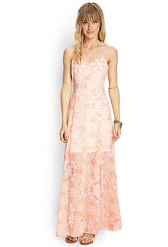 Laced-Back Printed Maxi Dress | FOREVER21 #F21Contemporary