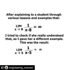#mulpix This One is fucking cute  #Repost @engineering_memes #math #infinity #engineer #engineering #engineerproblems #engineering_Menes #imagination @engineering_republic #limit #igers #mathslovers #mathlovers #mathematics #love #study #meme #joke #instagood #instalove #instalike #followforfollow #happy