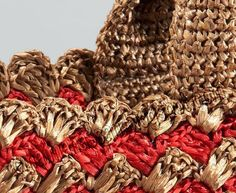 Crochet raffia bags are the latest fashion trend seasons. Designers offer a very interesting solution , which appear as a result of a tr. Raffia Bag, Tote Backpack, Tote Bag, Homemade Bags, Crochet Purses, Crochet Bags, Unique Bags, Knitted Bags, Beautiful Crochet