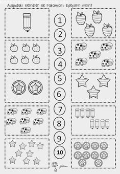 Top 40 Examples for Handmade Paper Events - Everything About Kindergarten Free Math Worksheets, Kindergarten Math Worksheets, Preschool Learning, Preschool Activities, Kindergarten Morning Work, Math Literacy, Math For Kids, Math Centers, Numicon