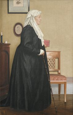 PORTRAIT DE LA GRAND MÈRE DE L'ARTISTE by Bernard Boutet de Monvel (French 1881-1949) ; PORTRAIT OF THE ARTIST'S GRANDMOTHER ; OIL ON CANVAS