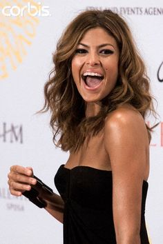 Eva Mendes - beautiful curls and a great smile to match