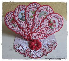 pipserier: A fan card - Easel and Fan using Marianne Creatables Design Dies