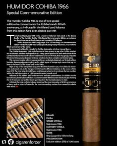 "#Repost @cigarenforcer with @repostapp The official photo of the ""Humidor Cohiba 1966"" a special vitola the 58 X 150 Majestuoso 1966. This release will be #limited to 1966 cases. #cigars #cigarshop #cigarsociety #cigarevents #luxury #habanos #cigarcollector #cigarcollection #cigarporn #cubancigar #instacigars #botl #cohiba #50thanniversary #habanofestival #xviiihabanosfestival by havanacigarlondon"