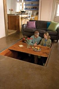 Secret Sunken Dining Room Table - strange
