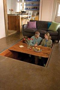 Secret Sunken Dining Room Table - strange