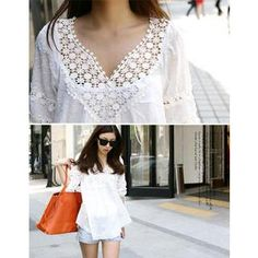 Buy 'DANI LOVE – Lace Neckline Dobby Spot Blouse' with Free International Shipping at YesStyle.com. Browse and shop for thousands of Asian fashion items from South Korea and more!