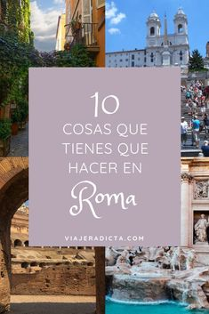 10 cosas que tienes que hacer en Roma! #viaje #roma #turismo Travel Packing, Rome, Places To Go, Italy, Tips, Places To Travel, Europe In Winter, European Travel, Rome City
