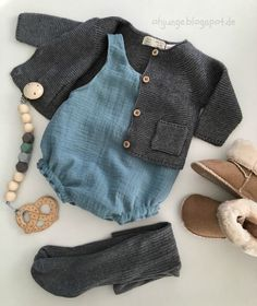 Idée tricot sans patron clothes Musselin Romper (Oh, Junge! Baby Outfits, Outfits Niños, Fashion Kids, Baby Girl Fashion, Baby Knitting Patterns, Baby Clothes Patterns, Vêtements Goth Pastel, Vêtement Harris Tweed, Baby Sewing