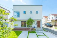 Home Building Design, Building A House, Japanese Modern House, House Tokyo, Minimal Home, House Entrance, White Houses, Modern House Design, House Floor Plans