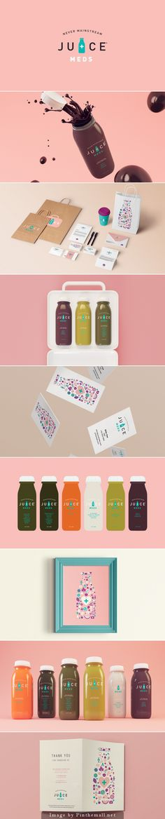 Juice Meds by Isabela Rodrigues who is one of the top repinned packaging designers PD