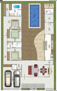 Tipler Luxury Homes L Shaped House Plans, New House Plans, Dream House Plans, Modern House Plans, Small House Plans, House Floor Plans, My Dream Home, House Blueprints, Home Design Plans