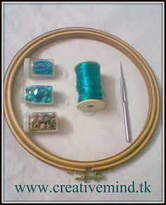 Middle Eastern (Turkish) embroidery using a steel crochet hook!