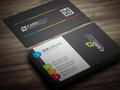 201 best free business card templates images on pinterest free a clean and modern design with splashes of colorful touches all around the multi color tags and lines adds a little fun to the all bold black background friedricerecipe Choice Image